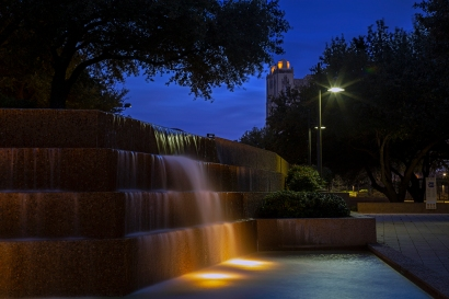 Evening Architectural Shot 5 in the Water Gardens located in Fort Worth Texas